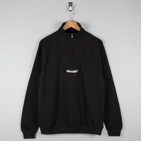 Decade Logo Quarter Zip Black