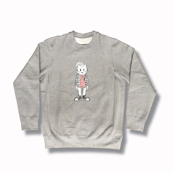 LUCKY STRIPE SKETCH CREWNECK