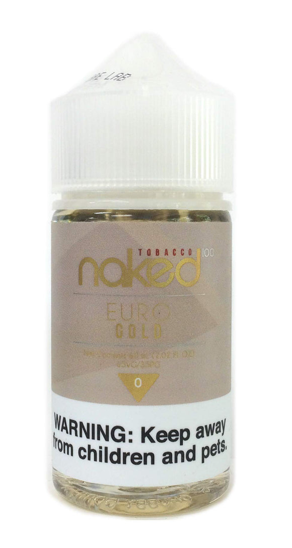 naked100 電子タバコリキッド60ml TOBACCO EURO GOLD