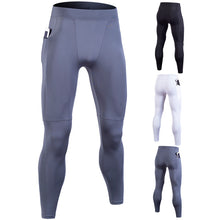 Load image into Gallery viewer, Men's Zip Pocket Running Compression Pants