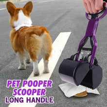 Load image into Gallery viewer, Long Handle Pet Pooper Scooper