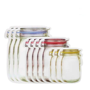 Mason Jar Zipper Bags
