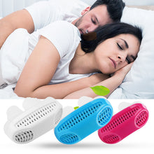 Load image into Gallery viewer, 2 In 1 Anti Snoring & Air Purifier Silicone Nose Clip