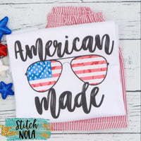 American Made Patriotic Sunglasses Printed Shirt