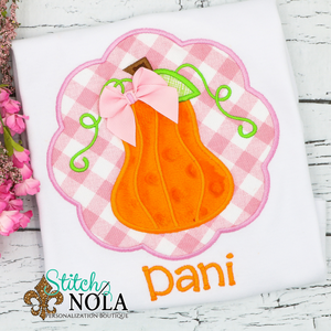 Personalized Pumpkin Scallop Applique Shirt