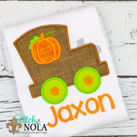 Personalized Pumpkin Train Applique Shirt