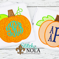Personalized Pumpkin Monogram Applique Shirt