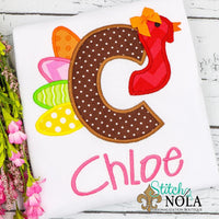 Personalized Turkey Alpha Applique Shirt