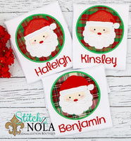 Personalized Santa Circle Applique Shirt