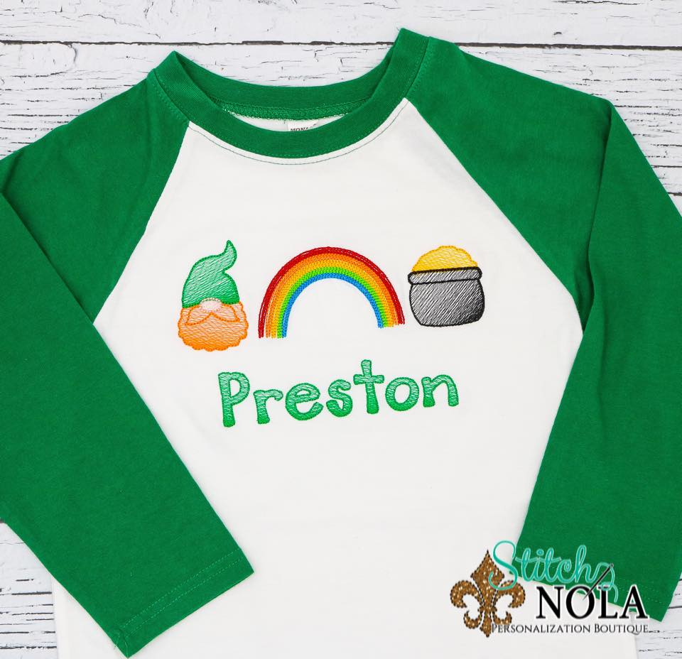 Personalized St. Patrick's Day Trio Sketch Shirt