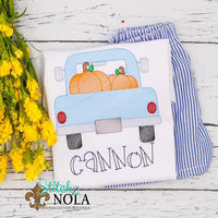 Personalized Pumpkin Truck Sketch Shirt