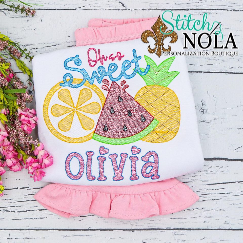Personalized Oh So Sweet Tutti Fruitti Sketch Shirt