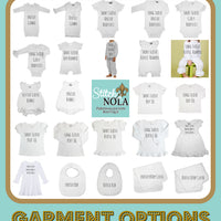 Personalized New Baby Little Blessing Printed Shirt
