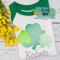 Personalized St. Patrick's Day Clover Bunch Sketch Shirt