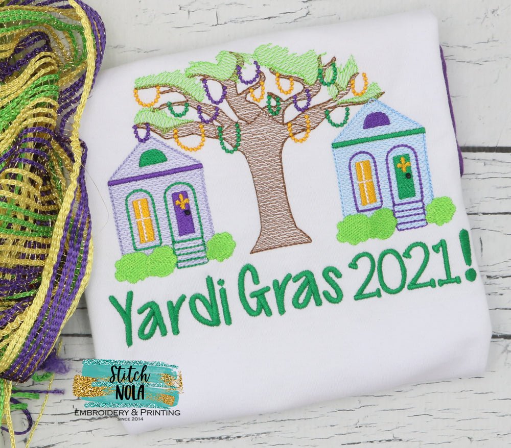 Personalized Yardi Gras 2021 Sketch Shirt