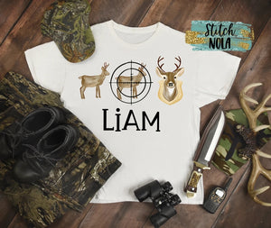 Personalized Deer Hunting Trio Printed Shirt