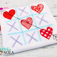 Personalized Valentine Tic Tac Toe Applique Shirt