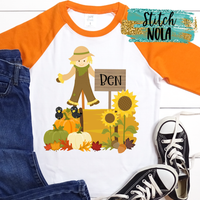 Personalized Scarecrow Scene Printed Shirt