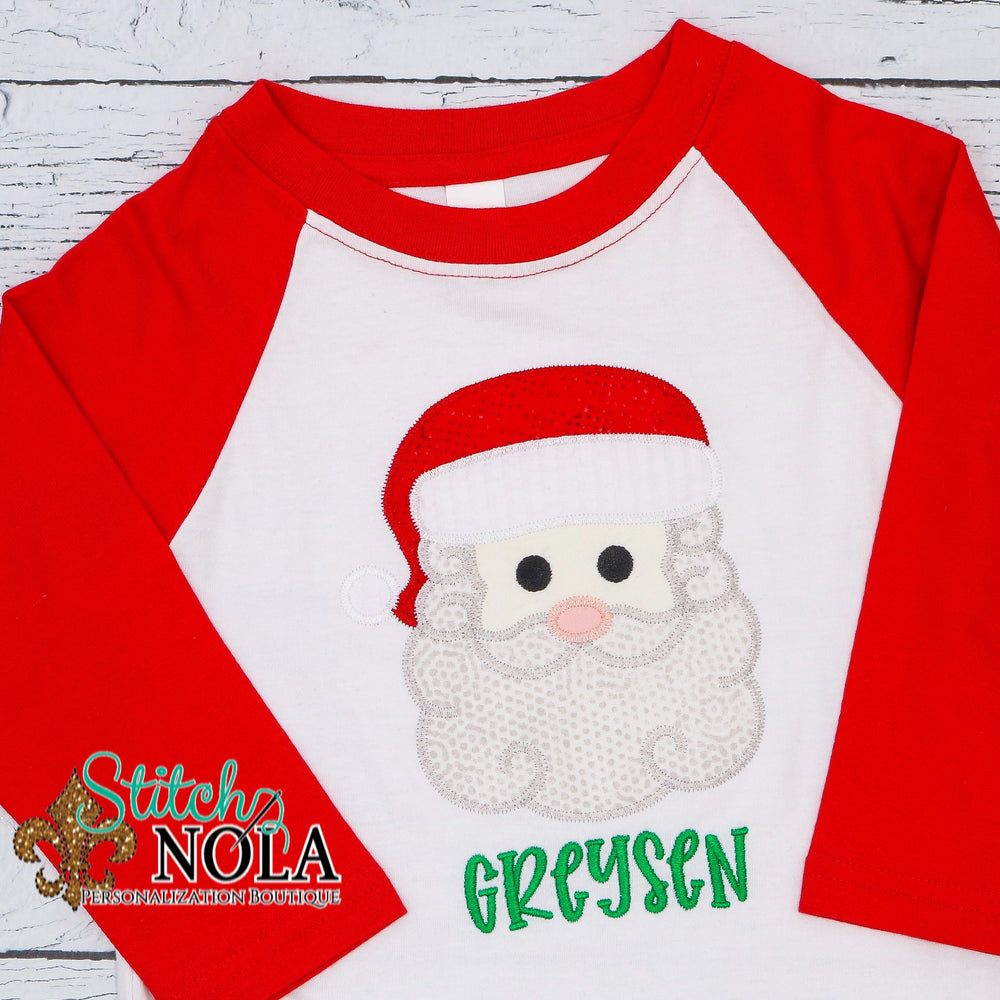 Personalized Santa Clause Applique Shirt