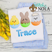 Personalized Hatched Easter Eggs Trio Sketch Shirt