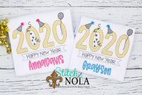 Personalized Big 2020 New Years Sketch Shirt