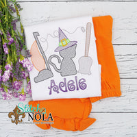Personalized Halloween Witch Trio Sketch Shirt