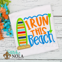 Personalized I Run this Beach Applique Shirt