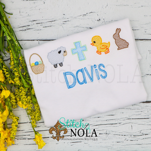 Personalized Easter Theme Sketch Shirt