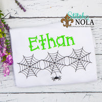 Personalized Halloween Spider Web Trio Sketch Shirt