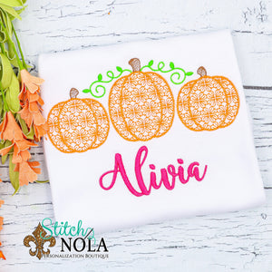 Personalized Motif Pumpkin Trio Sketch Shirt
