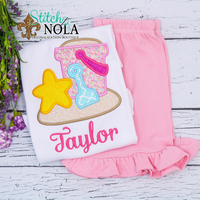 Personalized Beach Bucket Applique Shirt
