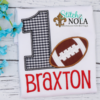 Personalized Birthday Football Appliqué Shirt