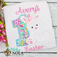 Personalized 1st Easter with Bunny Appliqué Shirt