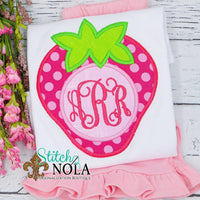 Personalized Strawberry Monogram Applique Shirt