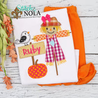 Personalized Scarecrow Applique Shirt