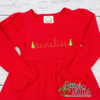Personalized Christmas Dress on Colored Garment