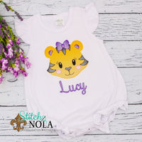PERSONALIZED PURPLE AND GOLD TIGER SKETCH SHIRT