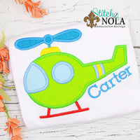 Personalized Helicopter Applique Shirt