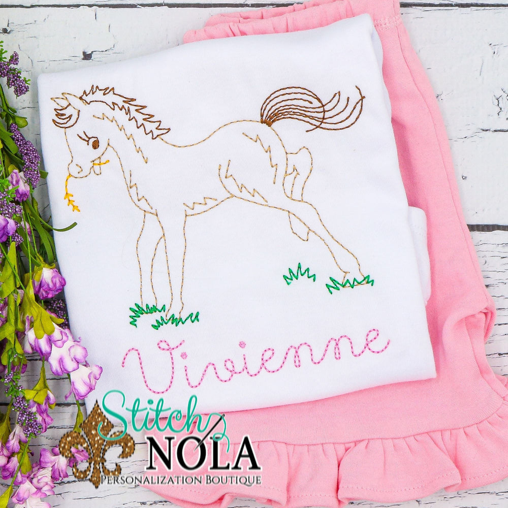 Personalized Vintage Horse Sketch Shirt