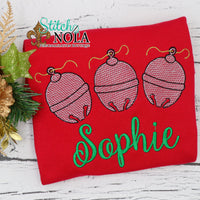 Personalized Christmas Jingle Bells Trio Sketch Shirt Colored Garment