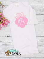 Personalized Baby Ornament with Monogram & Bow Applique Shirt
