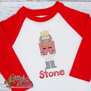 Personalized Christmas Toy Soldier Sketch Shirt