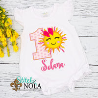 Personalized Birthday Sun Appliqué Shirt