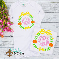 Personalized Pumpkin Wreath Sketch Shirt
