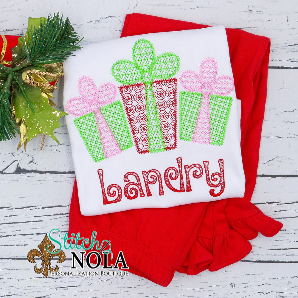 Personalized Christmas Presents Sketch Shirt
