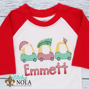 Personalized Christmas Coupe Trio Sketch Shirt