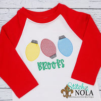 Personalized Christmas Lights Trio Sketch Shirt