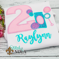 Personalized Bubble Birthday Appliqué Shirt