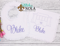 Personalized Baby Street Car Shirt