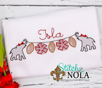 PERSONALIZED ALABAMA FOOTBALL ON A STRING SKETCH SHIRT